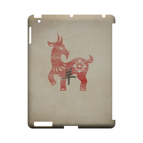 Grunge Sheep Geeks Designer Line Chinese Horoscope Series Slim Hard Case for Apple iPad (3rd & 4th Gen.)