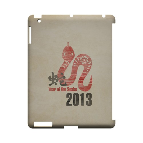 Grunge Snake Geeks Designer Line Chinese Horoscope Series Slim Hard Case for Apple iPad (3rd & 4th Gen.)