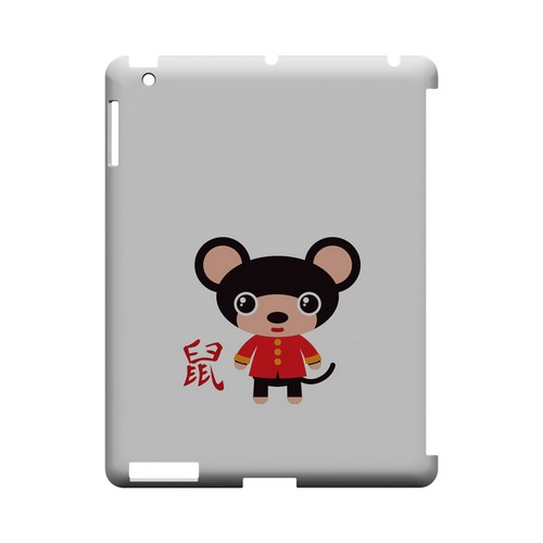 Rat on White Geeks Designer Line Chinese Horoscope Series Slim Hard Case for Apple iPad (3rd & 4th Gen.)