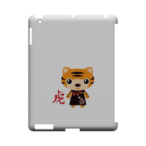 Tiger on White Geeks Designer Line Chinese Horoscope Series Slim Hard Case for Apple iPad (3rd & 4th Gen.)