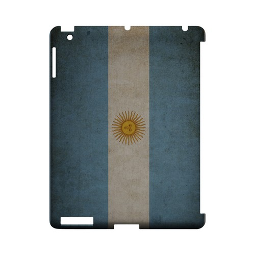 Grunge Argentina Geeks Designer Line Flag Series Slim Hard Case for Apple iPad (3rd & 4th Gen.)