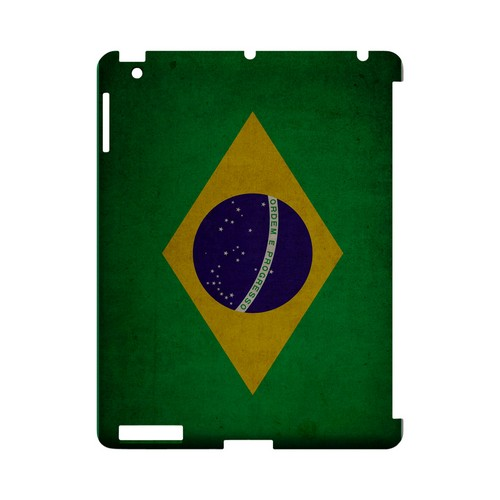 Grunge Brazil Geeks Designer Line Flag Series Slim Hard Case for Apple iPad (3rd & 4th Gen.)