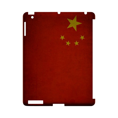 Grunge China Geeks Designer Line Flag Series Slim Hard Case for Apple iPad (3rd & 4th Gen.)