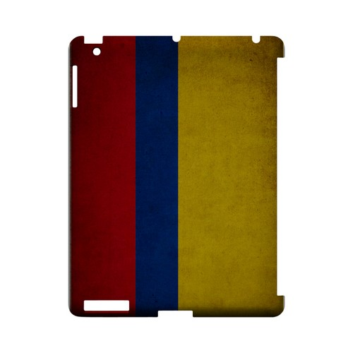 Grunge Colombia Geeks Designer Line Flag Series Slim Hard Case for Apple iPad (3rd & 4th Gen.)