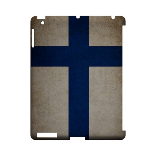 Grunge Finland Geeks Designer Line Flag Series Slim Hard Case for Apple iPad (3rd & 4th Gen.)