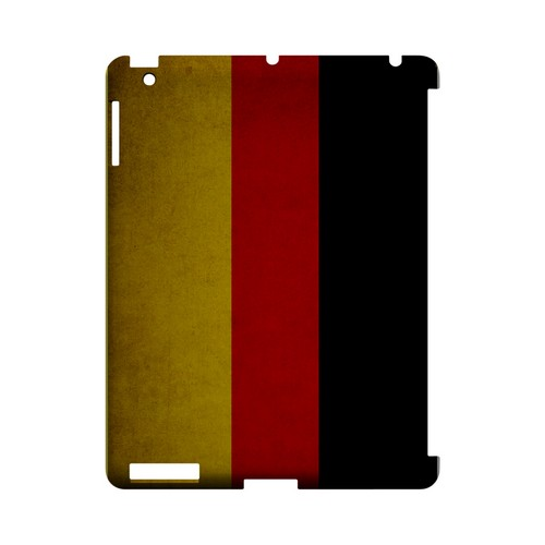 Grunge Germany Geeks Designer Line Flag Series Slim Hard Case for Apple iPad (3rd & 4th Gen.)