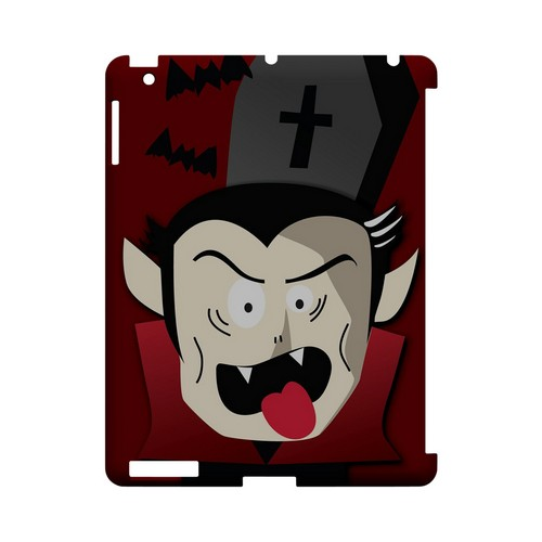 Immature Vampire - Geeks Designer Line (GDL) Monster Mash Series Hard Back Cover for Apple iPad (3rd & 4th Gen.)