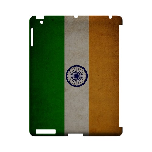Grunge India Geeks Designer Line Flag Series Slim Hard Case for Apple iPad (3rd & 4th Gen.)