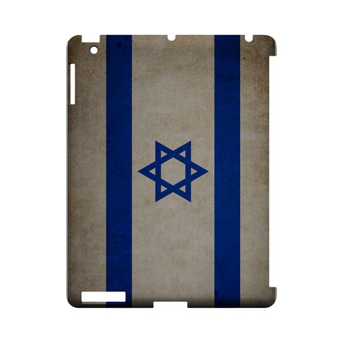 Grunge Israel Geeks Designer Line Flag Series Slim Hard Case for Apple iPad (3rd & 4th Gen.)