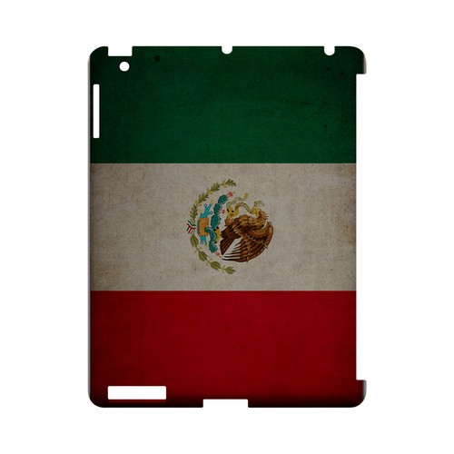 Grunge Mexico Geeks Designer Line Flag Series Slim Hard Case for Apple iPad (3rd & 4th Gen.)