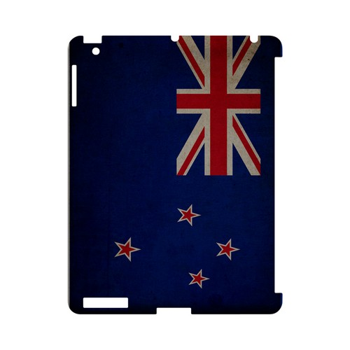 Grunge New Zealand Geeks Designer Line Flag Series Slim Hard Case for Apple iPad (3rd & 4th Gen.)