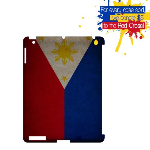 Grunge Philippines Geeks Designer Line Flag Series Slim Hard Case for Apple iPad (3rd & 4th Gen.)