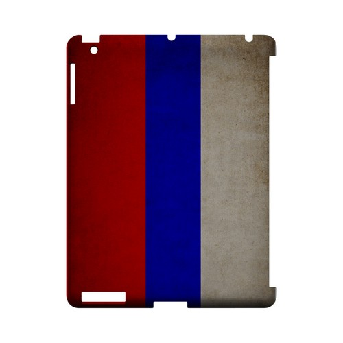 Grunge Russia Geeks Designer Line Flag Series Slim Hard Case for Apple iPad (3rd & 4th Gen.)