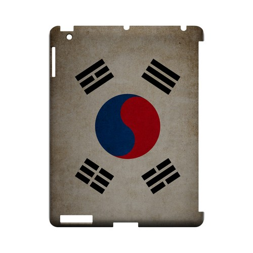 Grunge South Korea Geeks Designer Line Flag Series Slim Hard Case for Apple iPad (3rd & 4th Gen.)