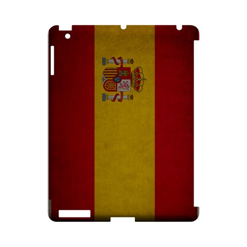 Grunge Spain Geeks Designer Line Flag Series Slim Hard Case for Apple iPad (3rd & 4th Gen.)