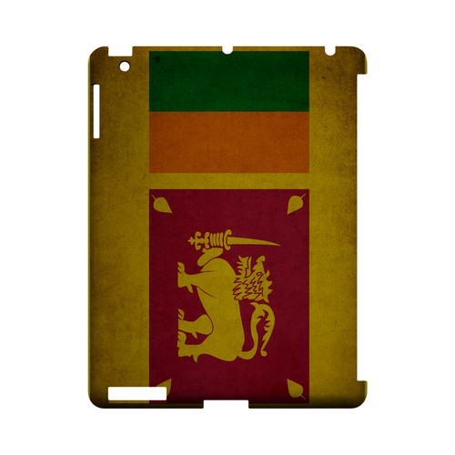 Grunge Sri Lanka Geeks Designer Line Flag Series Slim Hard Case for Apple iPad (3rd & 4th Gen.)