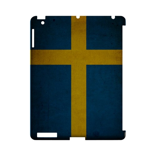 Grunge Sweden Geeks Designer Line Flag Series Slim Hard Case for Apple iPad (3rd & 4th Gen.)