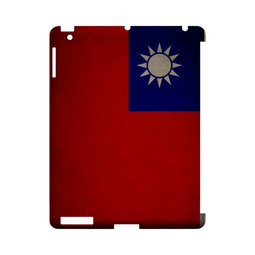 Grunge Taiwan Geeks Designer Line Flag Series Slim Hard Case for Apple iPad (3rd & 4th Gen.)