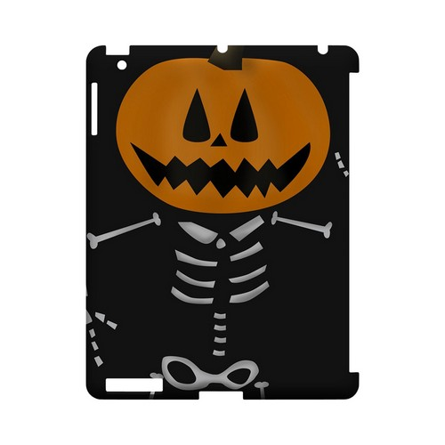 Skeleton w/Jack O' Lantern Head - Geeks Designer Line (GDL) Monster Mash Series Hard Back Cover for Apple iPad (3rd & 4th Gen.)