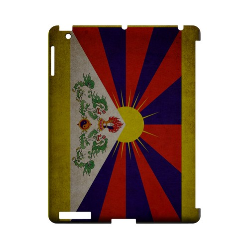 Grunge Tibet Geeks Designer Line Flag Series Slim Hard Case for Apple iPad (3rd & 4th Gen.)