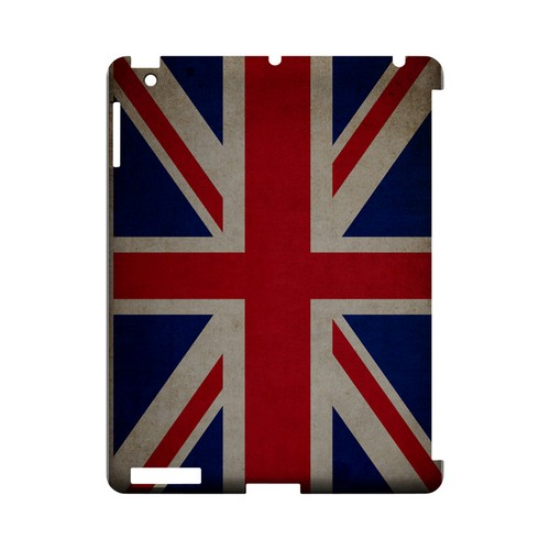 Grunge United Kingdom Geeks Designer Line Flag Series Slim Hard Case for Apple iPad (3rd & 4th Gen.)