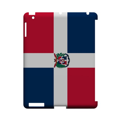 Dominican Republic Geeks Designer Line Flag Series Slim Hard Case for Apple iPad (3rd & 4th Gen.)