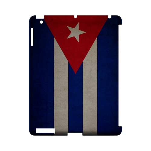 Grunge Cuba Geeks Designer Line Flag Series Slim Hard Case for Apple iPad (3rd & 4th Gen.)