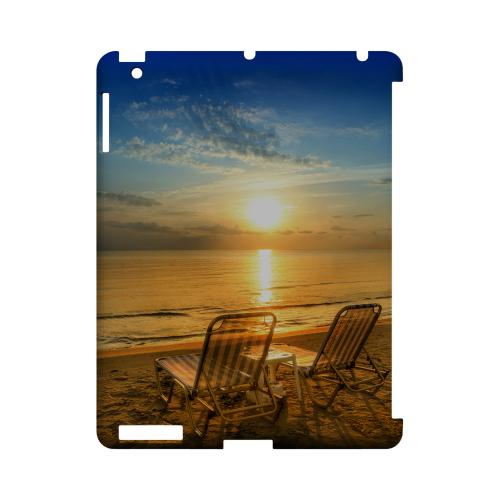 Beach Chair Sunrise Geeks Designer Line Beach Series Slim Hard Case for Apple iPad (3rd & 4th Gen.)