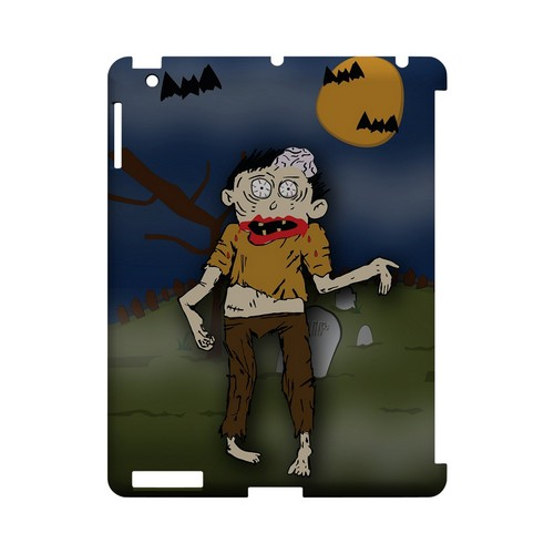 Zombie in Graveyard - Geeks Designer Line (GDL) Monster Mash Series Hard Back Cover for Apple iPad (3rd & 4th Gen.)