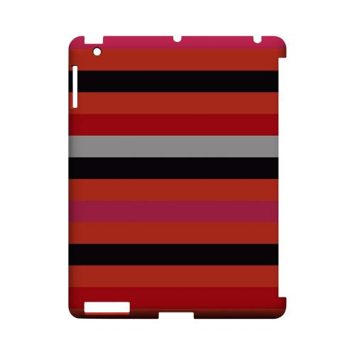 Muted Spade Stripes - Geeks Designer Line Stripe Series Hard Case for Apple iPad (3rd & 4th Gen.)