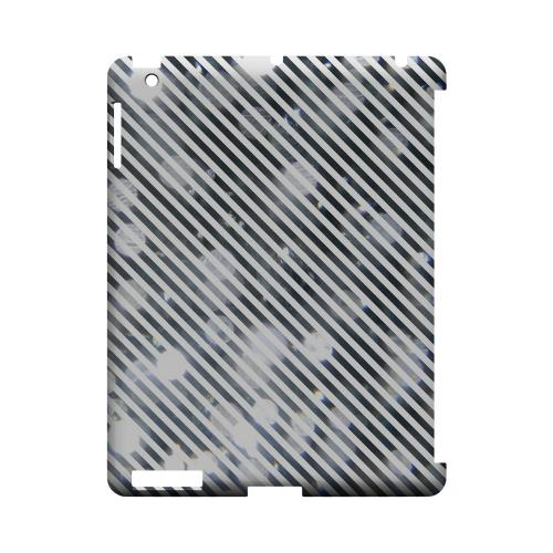 Thin Shimmer Diagonal - Geeks Designer Line Stripe Series Hard Case for Apple iPad (3rd & 4th Gen.)