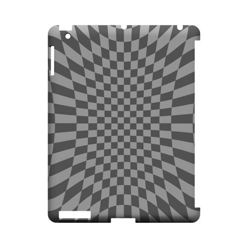 Distortion - Geeks Designer Line Checker Series Hard Case for Apple iPad (3rd & 4th Gen.)