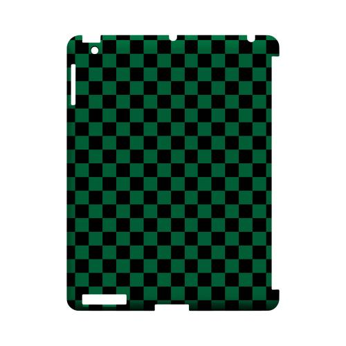 Green/ Black - Geeks Designer Line Checker Series Hard Case for Apple iPad (3rd & 4th Gen.)