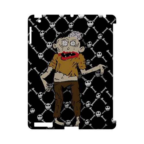 Zombie w/Skull & Crossbones - Geeks Designer Line (GDL) Monster Mash Series Hard Back Cover for Apple iPad (3rd & 4th Gen.)