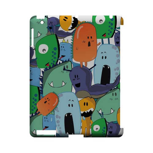ZORGBLATS Gang on White - Geeks Designer Line (GDL) Monster Mash Series Hard Back Cover for Apple iPad (3rd & 4th Gen.)
