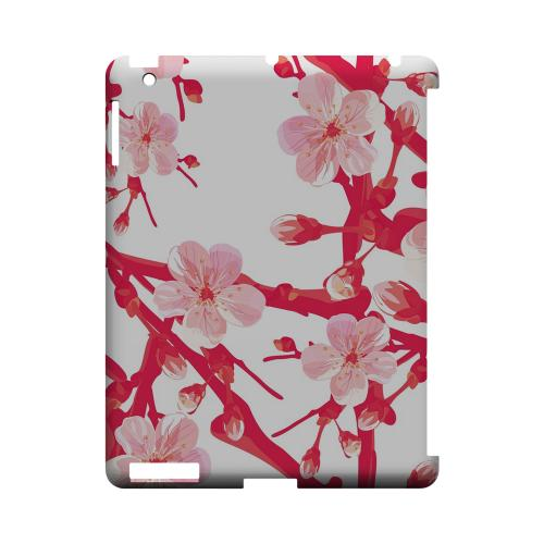 Hot Pink Cherry Blossom - Geeks Designer Line Floral Series Hard Case for Apple iPad (3rd & 4th Gen.)
