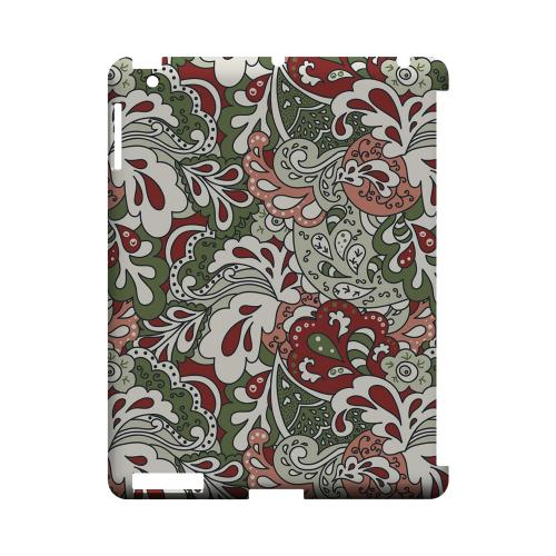 Green/ Red/ Pink Paisley - Geeks Designer Line Floral Series Hard Case for Apple iPad (3rd & 4th Gen.)