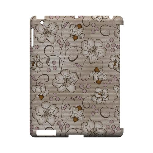Floral Stripes Linen - Geeks Designer Line Floral Series Hard Case for Apple iPad (3rd & 4th Gen.)