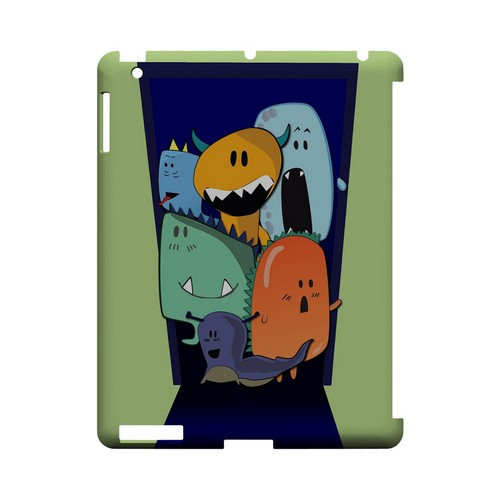 ZORGBLATS on Purple - Geeks Designer Line (GDL) Monster Mash Series Hard Back Cover for Apple iPad (3rd & 4th Gen.)