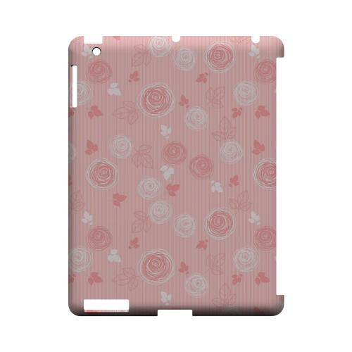 Leaves Scribble Pinkish - Geeks Designer Line Floral Series Hard Case for Apple iPad (3rd & 4th Gen.)