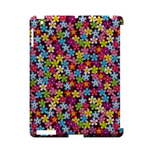 Multi-Colored Flowers - Geeks Designer Line Floral Series Hard Case for Apple iPad (3rd & 4th Gen.)