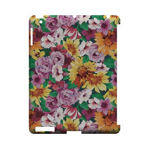 Pink/ Orange Flowers - Geeks Designer Line Floral Series Hard Case for Apple iPad (3rd & 4th Gen.)