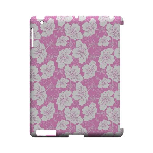 White Hibiscus on Pink - Geeks Designer Line Floral Series Hard Case for Apple iPad (3rd & 4th Gen.)