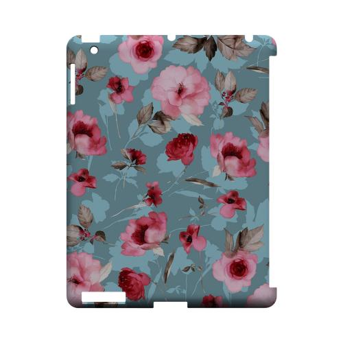 Vintage Watercolor Roses - Geeks Designer Line Floral Series Hard Case for Apple iPad (3rd & 4th Gen.)