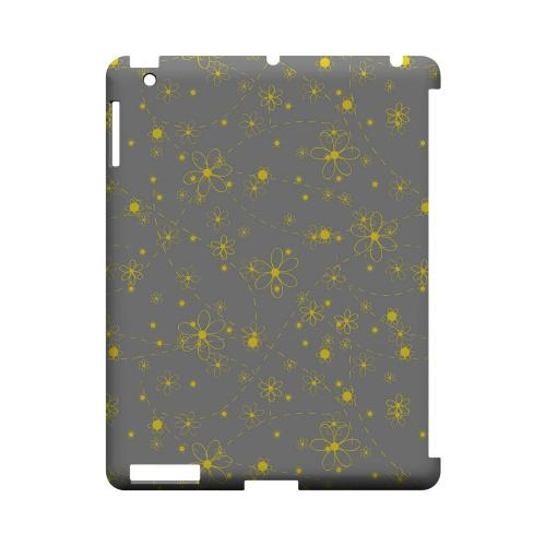 Yellow Daisies on Gray - Geeks Designer Line Floral Series Hard Case for Apple iPad (3rd & 4th Gen.)
