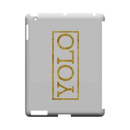 Gold YOLO - Geeks Designer Line YOLO Series Hard Case for Apple iPad (3rd & 4th Gen.)
