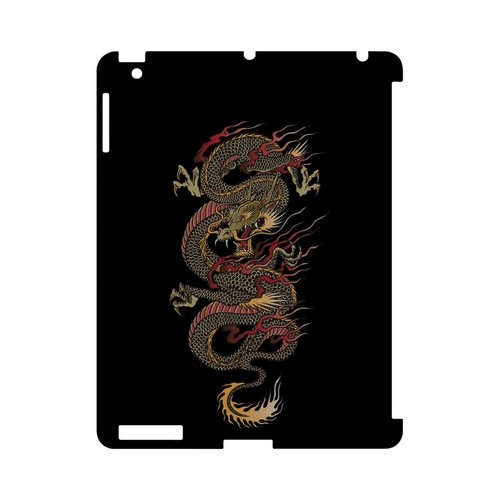 Dragon on Black - Geeks Designer Line Tattoo Series Hard Case for Apple iPad (3rd & 4th Gen.)
