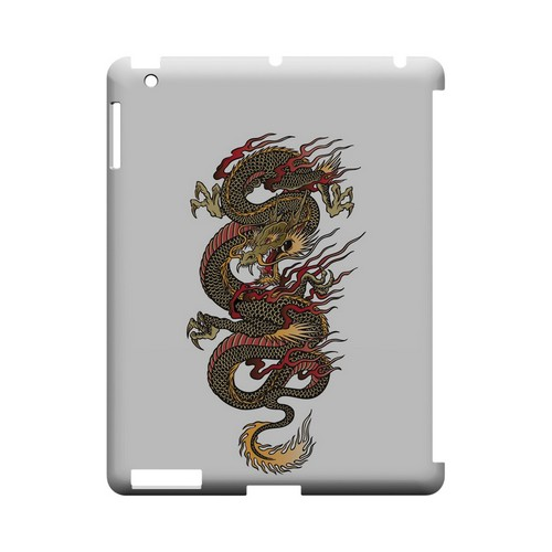Dragon on White - Geeks Designer Line Tattoo Series Hard Case for Apple iPad (3rd & 4th Gen.)