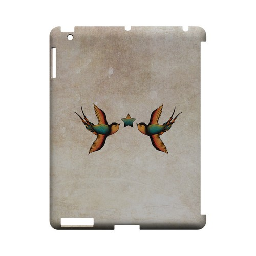 Dual Swallow Star - Geeks Designer Line Tattoo Series Hard Case for Apple iPad (3rd & 4th Gen.)