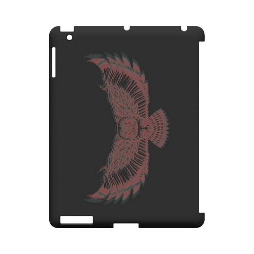 Flying Owl 3D-Esque - Geeks Designer Line Tattoo Series Hard Case for Apple iPad (3rd & 4th Gen.)